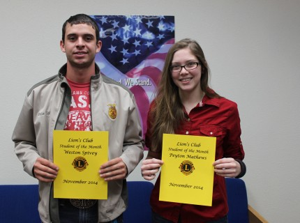 RRTC Students of the Month November