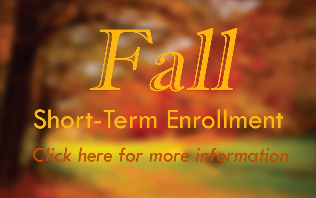 Short-Term Courses Enrollment Information
