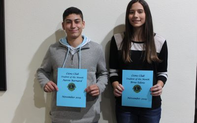 Lions Club Names Students of the Month